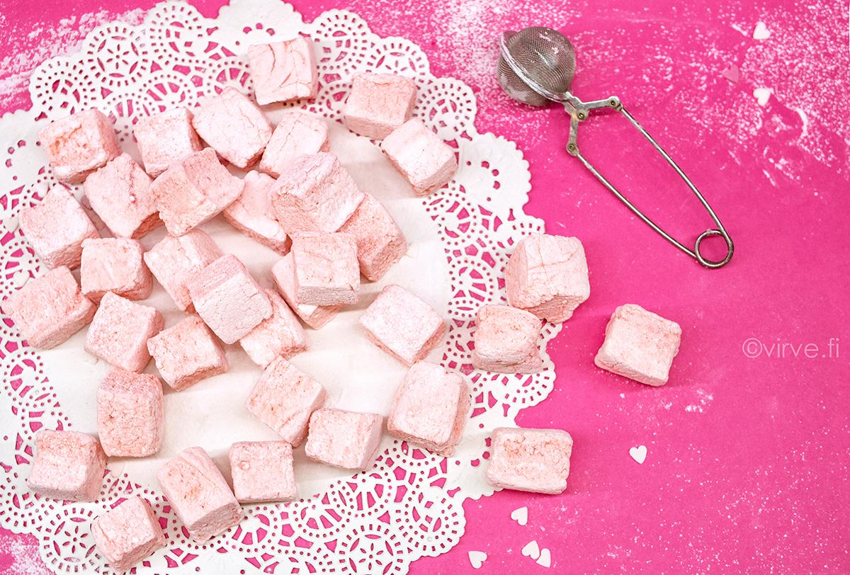 Valentinen vaniljaiset vaahtokarkit